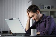 Malato e stanco di studio Immagini Stock