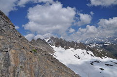 Malatra pass, Italian Alps, Aosta Valley. Stock Photos