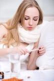 Malattia Fotografie Stock