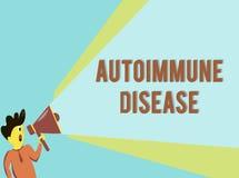 Malattia autoimmune del testo di scrittura di parola Concetto di affari per gli anticorpi insoliti che mirano ai loro propri tess royalty illustrazione gratis
