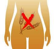 Malattia celiaca illustrazione vettoriale