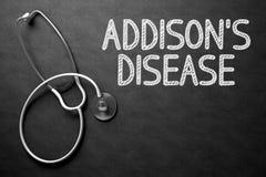 Malattia di Addisons sulla lavagna illustrazione 3D fotografia stock libera da diritti