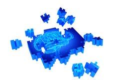 Malattia di demenza e una perdita di funzione e di memorie del cervello Fotografia Stock
