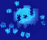 Malattia di demenza e una perdita di funzione e di memorie del cervello illustrazione vettoriale