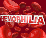 Malattia di disordine di emofilia in celle della circolazione sanguigna illustrazione di stock
