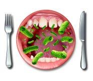 Malattia di intossicazione alimentare Immagini Stock