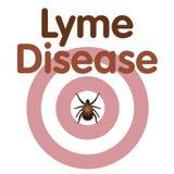 Malattia di Lyme, segno di spunta, eruzione dell'occhio di tori illustrazione vettoriale