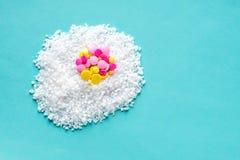 Malattia medica di allergia della vitamina della pillola dell'uovo di concetto Fotografia Stock Libera da Diritti