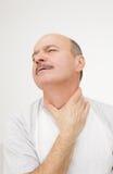Malattia respiratoria nella vecchiaia fotografia stock