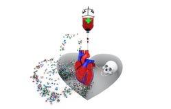 Malattia, sanità e medicina, rischio cardiovascolare royalty illustrazione gratis