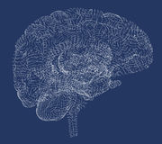 Malattie degeneranti del cervello, Parkinson, sinapsi, neuroni, Immagine Stock Libera da Diritti