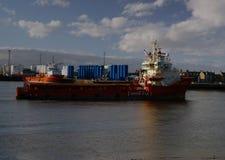 Malaviya Zeven vertrekt de haven van Aberdeen stock afbeeldingen