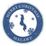 Malawi översikt Malawi för glad jul för tappning stämpel Arkivfoton