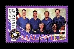 Malawi auf Briefmarken stockfotos