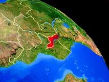 Malawi auf Planet Erde vektor abbildung
