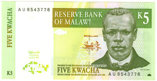 Malawi banknot Zdjęcia Royalty Free