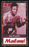 Joe Frazier. Malawi - CIRCA 2012: stamp printed by Malawi, shows Joe Frazier, circa 2012 Royalty Free Stock Photos
