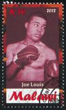 Joe Louis. Malawi - CIRCA 2012: stamp printed by Malawi, shows Joe Louis, circa 2012 Stock Image