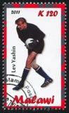 Lev Yashin. Malawi - CIRCA 2011: stamp printed by Malawi, shows Lev Yashin, circa 2011 stock image