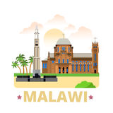 Malawi country design template Flat cartoon style Stock Photo