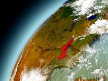 Malawi da órbita de Earth modelo Imagens de Stock Royalty Free