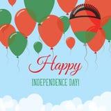 Malawi dnia niepodległości mieszkania kartka z pozdrowieniami Obraz Stock