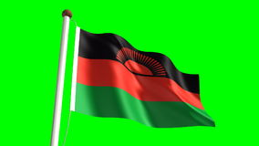 Malawi flag stock video
