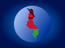 Malawi globe illustration Royalty Free Stock Photography