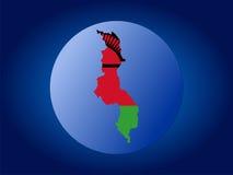 Malawi globe illustration Royalty Free Stock Photography