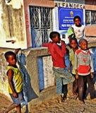 Malawi, Mozambik słup graniczny/ Obraz Royalty Free