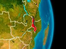 Malawi på jord Arkivfoton