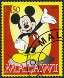 MALAWI - 2008: shower Mickey Mouse royaltyfri illustrationer