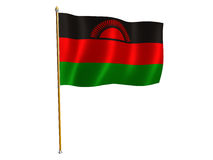 Malawi silk flag Stock Images