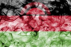 Malawi smoke flag isolated on a white background. Malawi smoke flag isolated on a white background Royalty Free Stock Photography