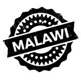 Malawi stamp rubber grunge Stock Photo