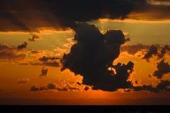 Malawi sunrise 3. Scenic colorful african sunrise from lake Malawi Royalty Free Stock Images