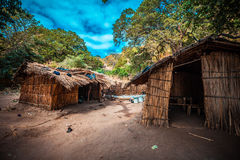 Malawi village. Humble village on the Malawi lake Royalty Free Stock Photos
