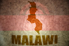 Malawi vintage map Royalty Free Stock Images