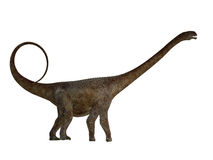 Malawisaurus Side Profile. Malawisaurus was a herbivore sauropod dinosaur that lived in Africa during the Cretaceous Period Royalty Free Stock Photo