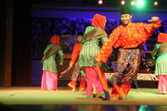 Malay Aboriginal dance. Togather at cultural village sarawak Stock Image