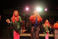 Malay Aboriginal dance. Togather at cultural village sarawak Stock Photography