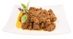 Malay Beef Rendang Dish IV Stock Photography