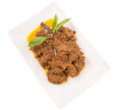 Malay Beef Rendang Dish VI Royalty Free Stock Photography