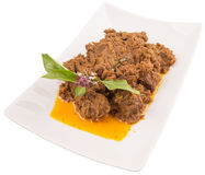 Malay Beef Rendang Dish X Royalty Free Stock Photo