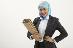 Malay business woman Royalty Free Stock Photography