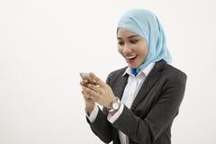 Malay business woman talking Stock Photography