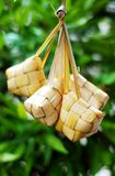 Malay compact glutinous rice. Traditional Malay compact glutinous rice called Ketupat for celebrations Stock Image