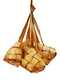 Malay compact glutinous rice. Traditional Malay compact glutinous rice called Ketupat for celebrations Stock Photography