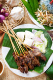 Malay dish satay Royalty Free Stock Photography