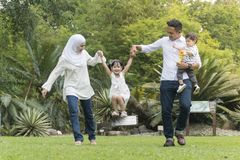 Free Malay Family At Recreational Park Having Fun Royalty Free Stock Images - 148392299